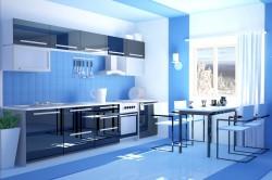 Кухня 3д с правильной расстановкой мебели