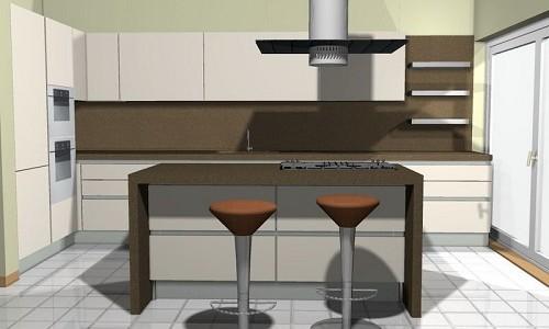 Разработка кухни в 3д