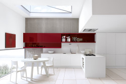 Кухня с преобладающим белым цветом