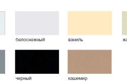 Распространенные цвета керамических моек