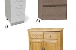 Кухонные тумбы с выдвижными ящиками