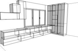 Проект кухонной мебели
