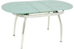 Раскладной овальный стеклянный стол