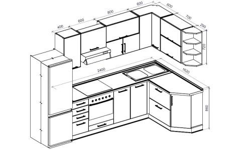 Схема кухонного гарнитура из фанеры