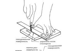 Схема подрезки плитки