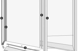 Схема устройства фасада с алюминиевой рамкой