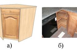 Угловые кухонные тумбы
