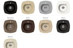 Возможные цветовые решения моек
