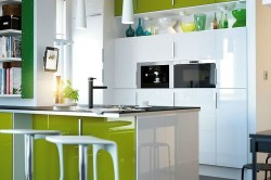 Акриловая глянцевая кухня