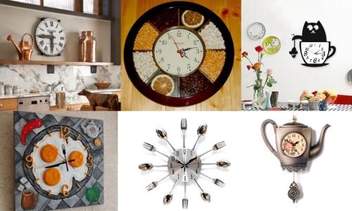 Варианты дизайна часов для кухни