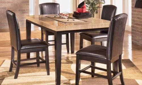 Красивый кухонный стол из искусственного камня