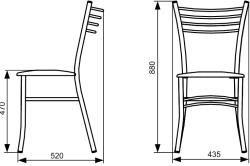 Схема металлического стула для кухни