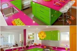 Дизайн разноцветной кухни