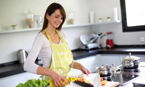 Женский кухонный фартук