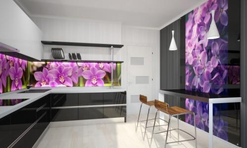 Стеклянный фасад для кухни