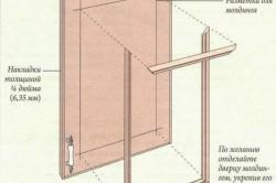 Схема изготовления плоской дверцы из дерева