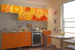 Фотообои на фасадах кухонного гарнитура