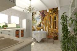 Фреска на стене в кухне