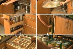 Виды современных функциональных шкафов на кухне