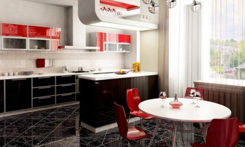 Дизайн кухни с керамической плиткой