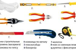 Инструменты для установки светильников