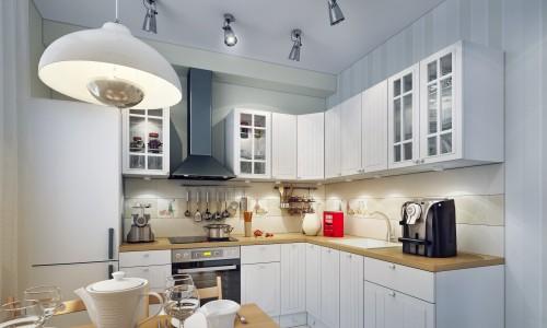 Накладные светильники на кухне