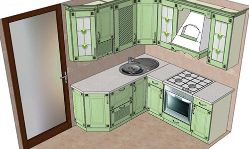 Кухня в доме-корабле