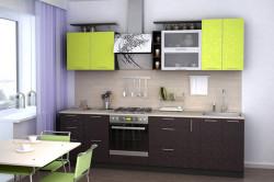 Сочетание коричневого и оливкового цвета на кухне