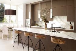 Кухня в красивом коричневом цвете