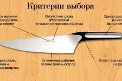 Основные критерии выбора кухонного ножа