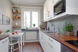 Планировка прямой кухни