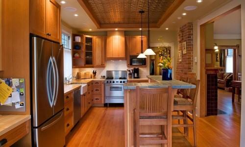 Стильная прямая кухня