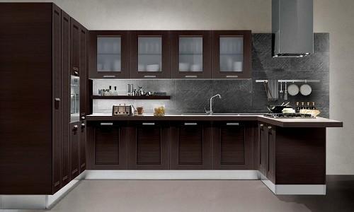 Кухня сделанная из венге