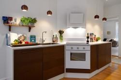 Светильники-подвесы на кухне