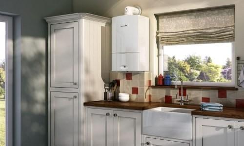 Современная кухня с настенным газовым котлом