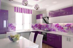 Кухня баклажан с изображением растений
