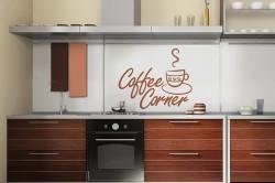 Интерьер кухни цвета кофе с молоком