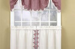 Кухонные шторы прованс на высокое окно