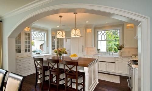 Дизайн кухни с аркой