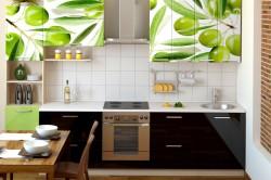 Облицовка фасадов кухни пленкой