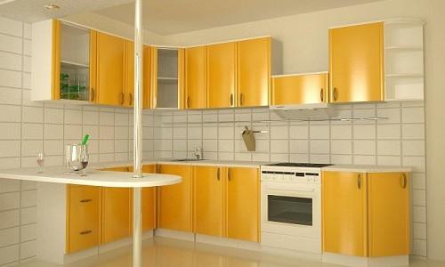 Кухонный гарнитур желтого цвета