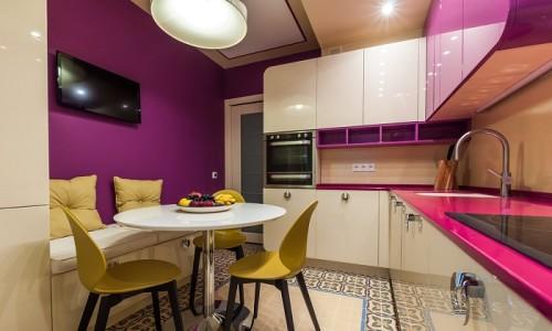 Стильная кухня в 9 квадратных метров