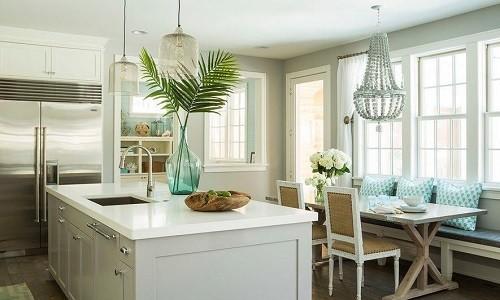 Кухня выполненная в морском стиле