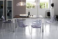 Экологические прозрачные стулья для кухни