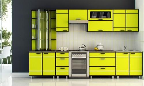 Яркая кухня лайм