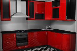 Кухонный гарнитур из крашеного МДФ