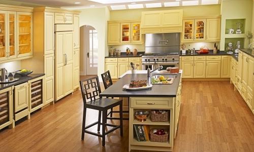 Линолеум в интерьере кухни