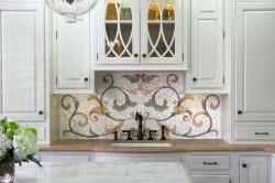 Мозаичное панно из плитки для кухни