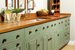 Оливковый цвет фасадов