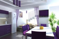 Органичное сочетание фиолетового с белым